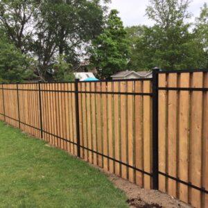 aluminum vertical wood fence toronto