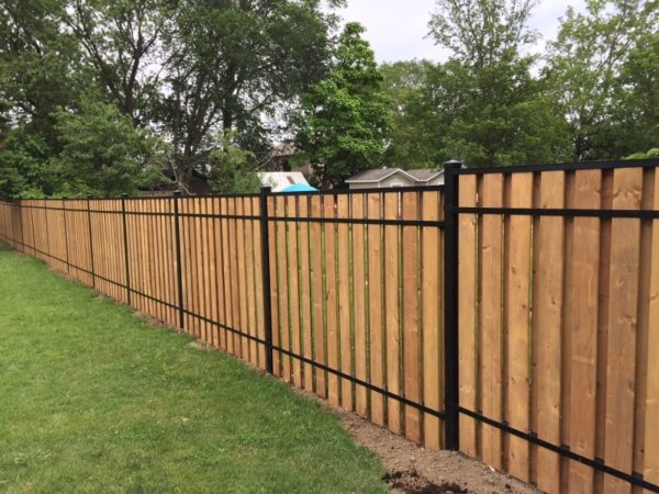 aluminum vertical wood fence toronto